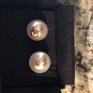 Chanel Pearl Earrings -  New in Box